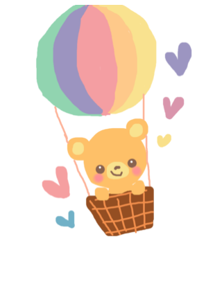 png free In hot air balloon. Bear with balloons clipart