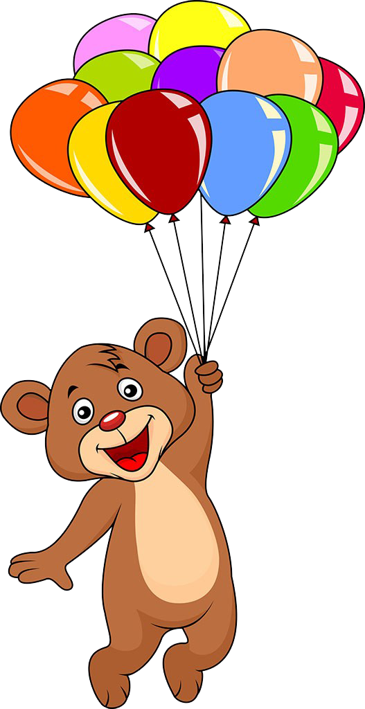 graphic free download Bear with balloons clipart. Teddy balloon clip art