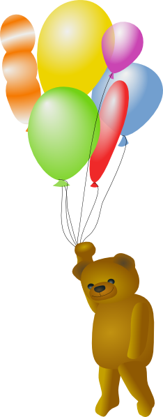 clip art transparent library Teddy Bear With Balloons Clip Art at Clker