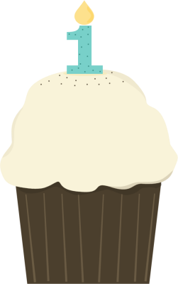 banner library Happy Birthday Cupcake Clipart