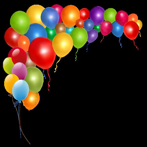 svg transparent Vector balloon border. Clip art birthday balloons