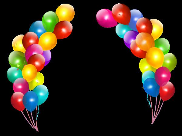 clip transparent library Colorful balloons decor transparent. Vector balloon border
