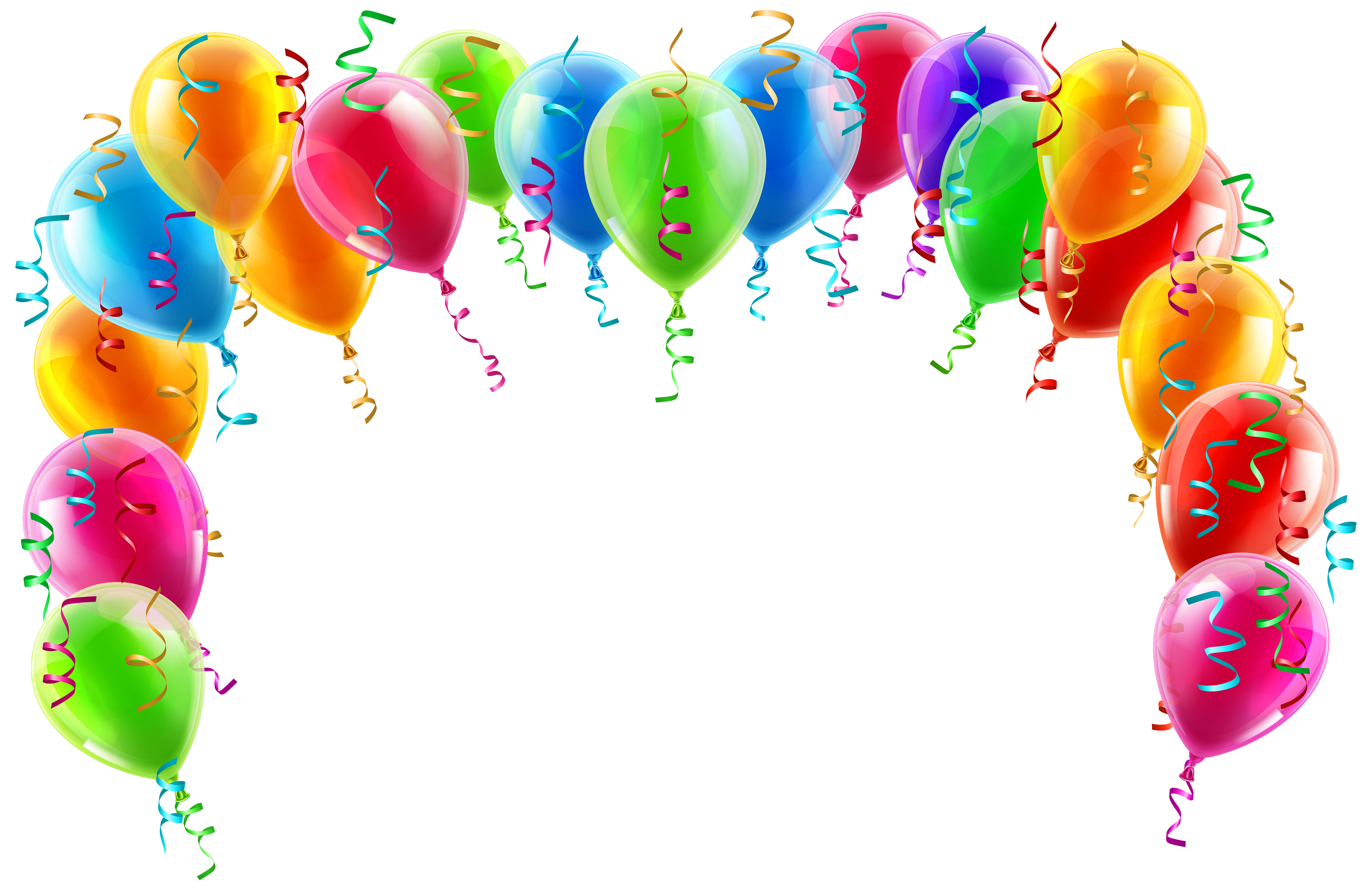 clip art free library Vector balloon border. Colorful arch png clipart