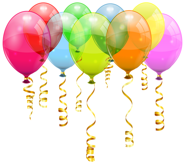 svg royalty free stock Colorful balloon bunch png. Happy birthday balloons clipart