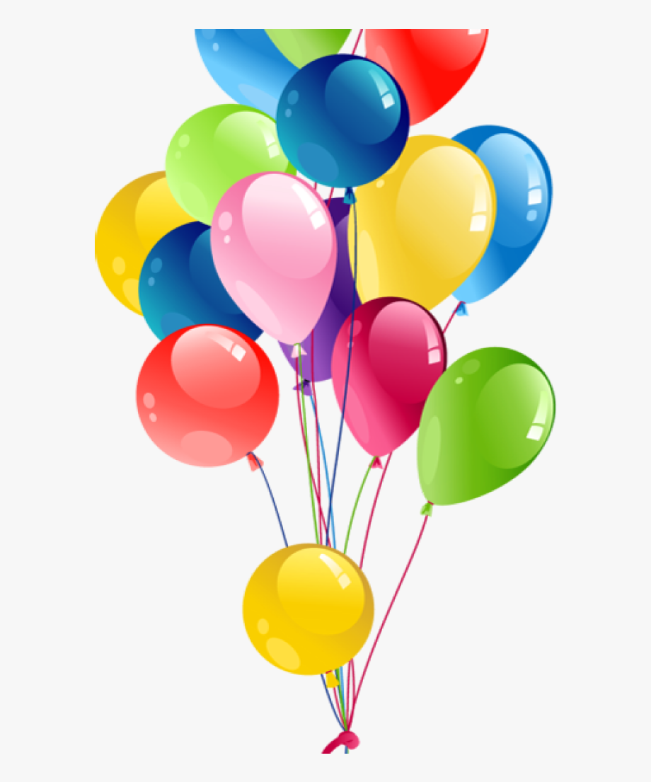 image library stock Birthday transparent bunch . Balloons clipart.