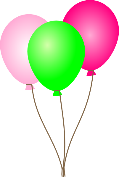 clip art transparent stock Balloons clipart. Pink and green .