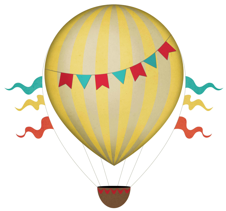 freeuse Hot air clipart transparent. Vector balloon vintage