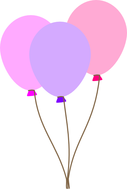 image free stock Balloons clipart baby girl. Pastel balloon bunch