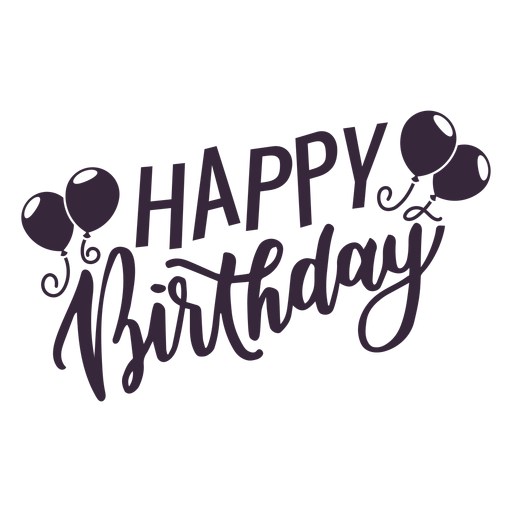 clipart download Balloons lettering png svg. Emo transparent happy birthday