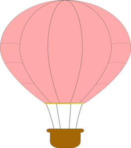 jpg library Pink hot air clip. Vector balloon public domain