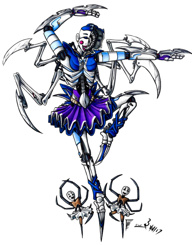 vector freeuse library Ballora drawing. Fnaf by deathrage five