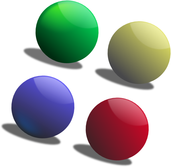 jpg free library Colour clip art at. Balls clipart