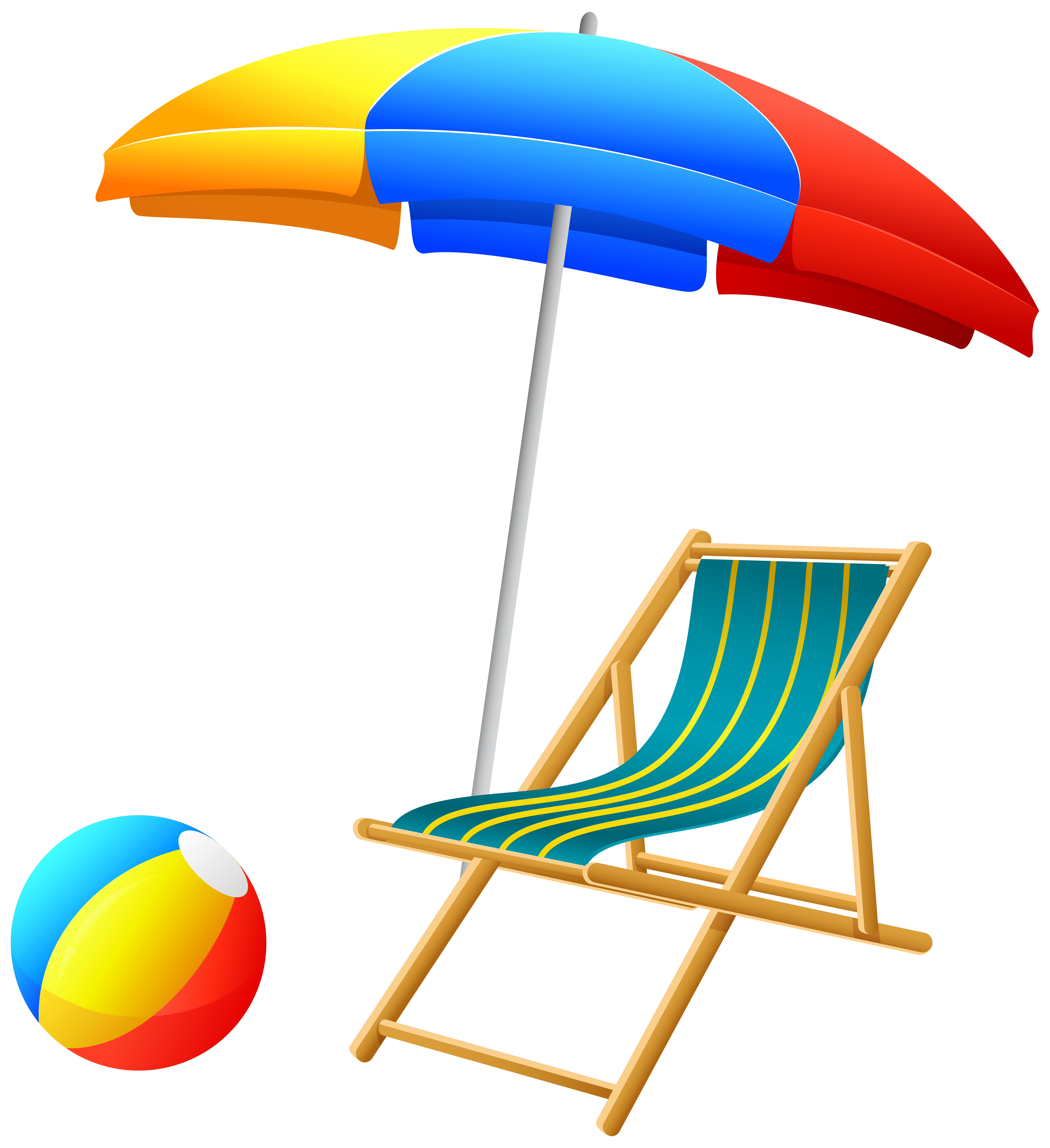 image transparent library Balls clipart summer. Beach umbrella with chair