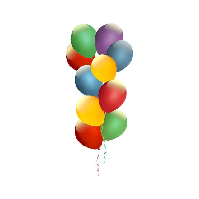 jpg freeuse stock Colorful birthday png and. Vector balloon