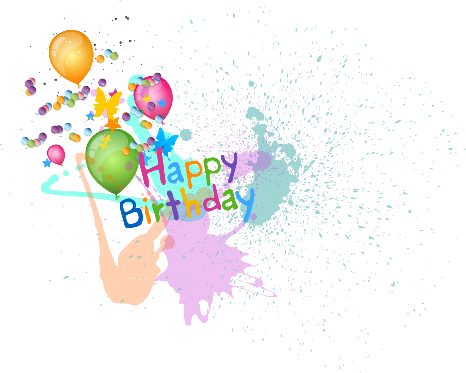 picture free library Happy Birthday Balloons PNG vector material