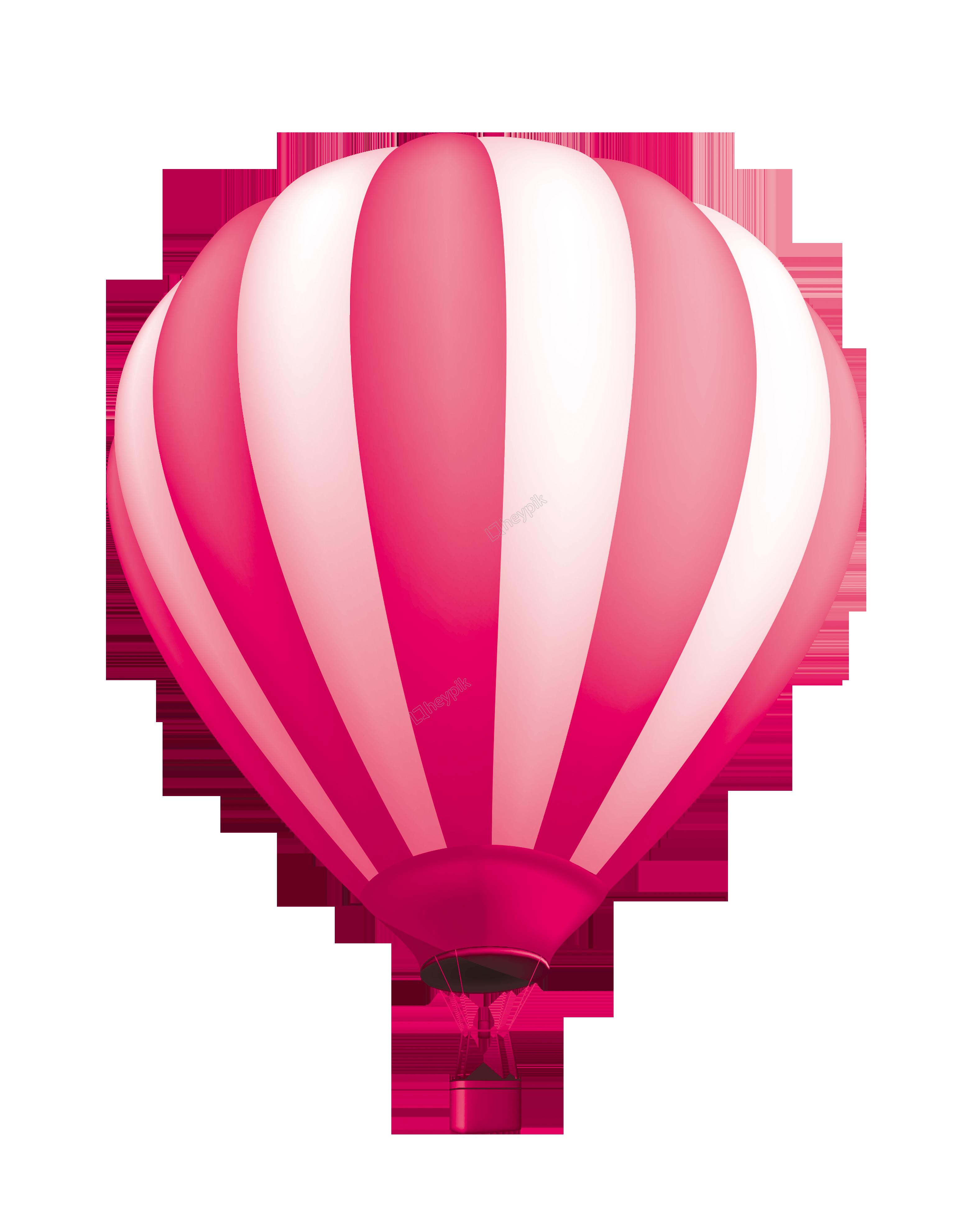 banner Vector balloon pink. Hand painted cartoon three