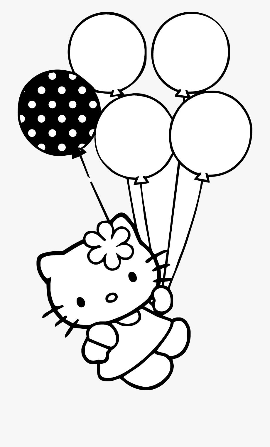 clipart library download Baloon vector gambar. Hello kitty con globitos