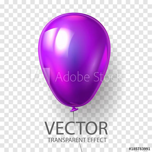 svg freeuse Realistic d render illustration. Vector balloon purple
