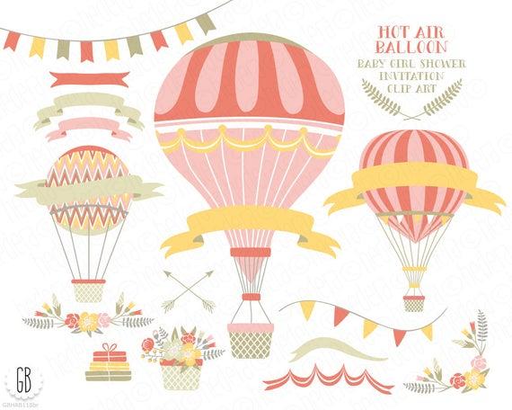 clip art library Hot air balloons flower. Vector balloon vintage