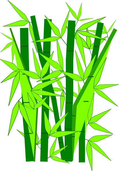image freeuse library Bamboo transparent cartoon. Green clip art at