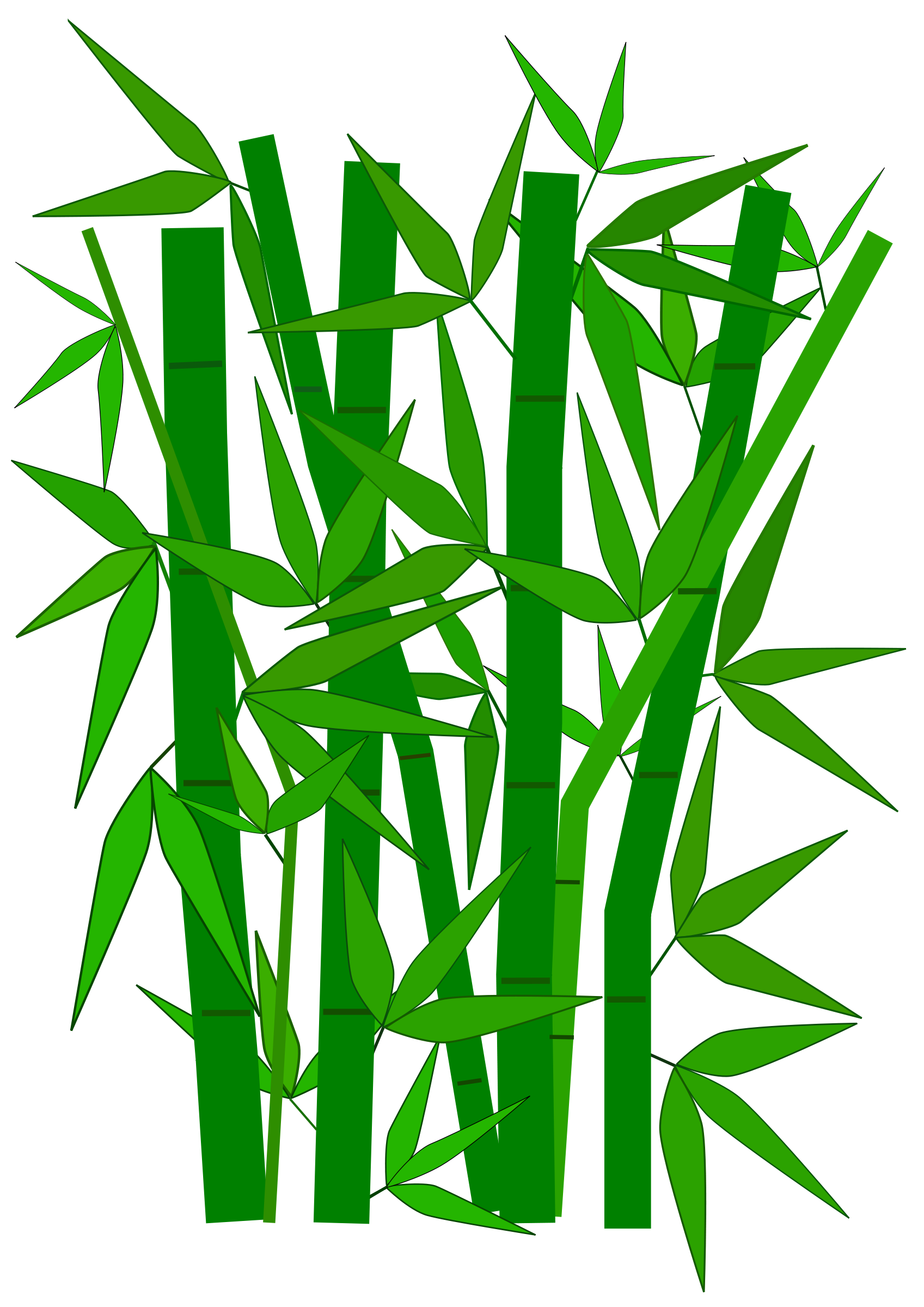 picture transparent stock Bamboo Leaves Clipart