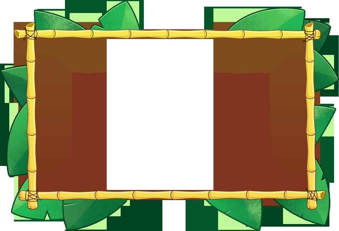clipart download Tiki clipart banner. Border vector bamboo bo.