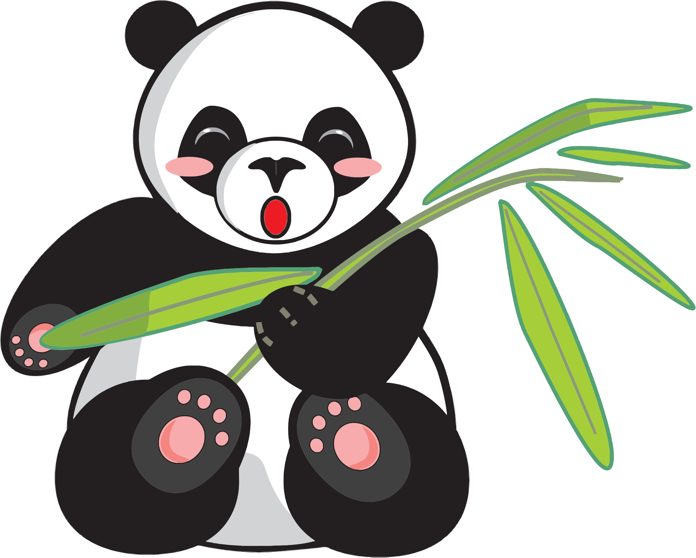 image black and white library Panda and icons png. Bamboo transparent cute cartoon