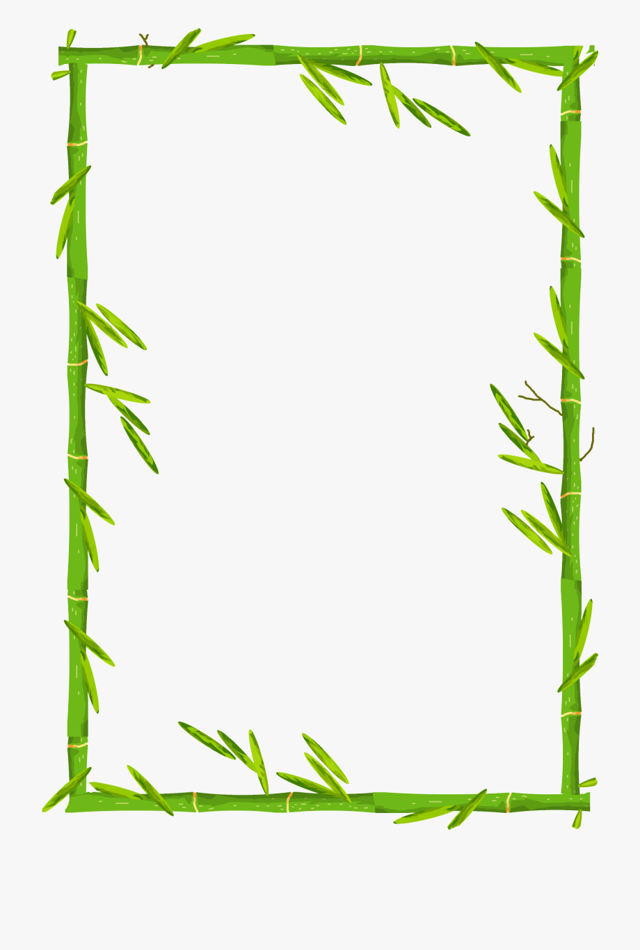 svg free Bamboo transparent border. Download free image green