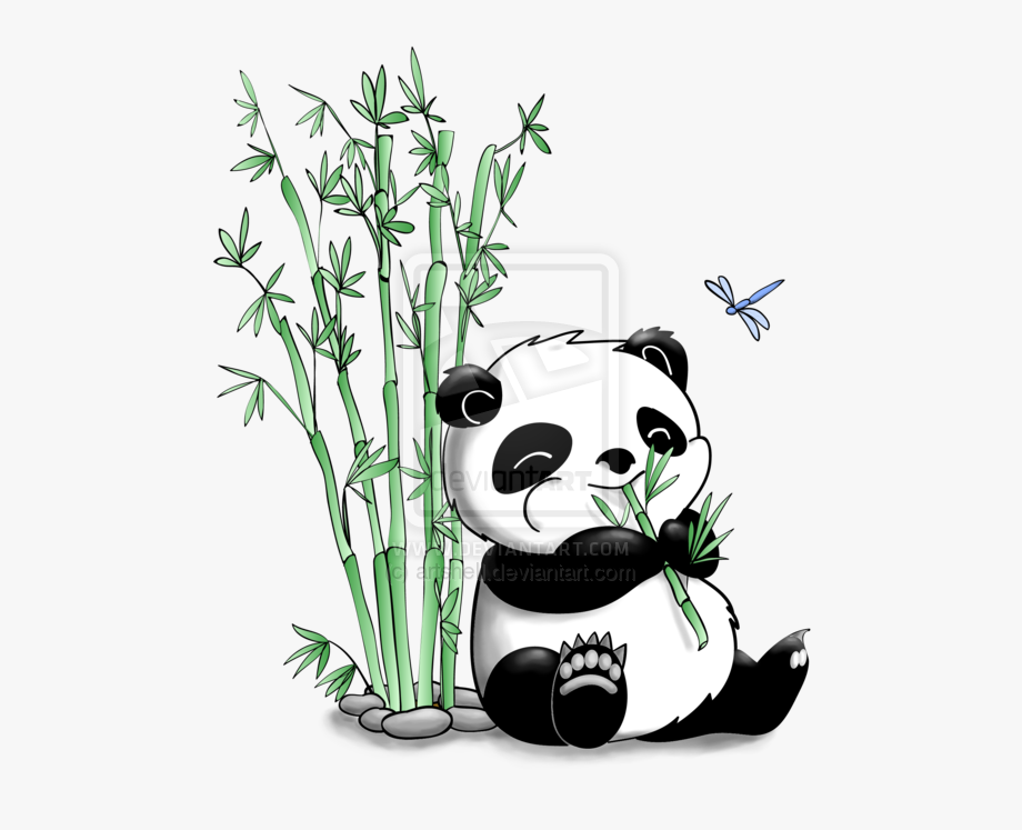 picture library download Drawing panda eating . Bamboo transparent cute cartoon