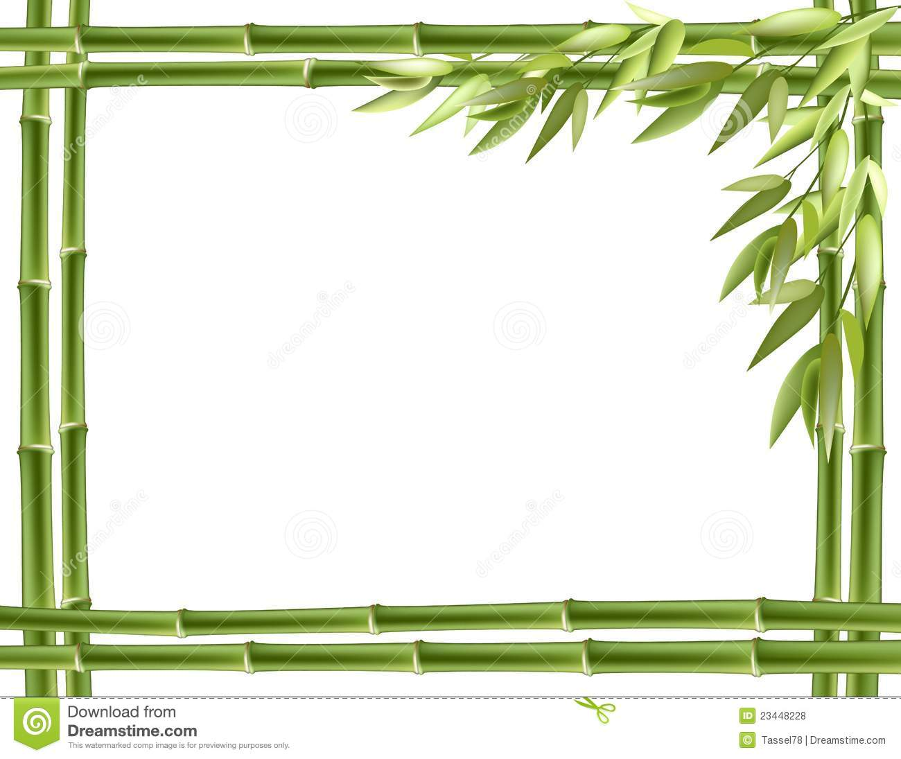 clipart stock Bamboo transparent frame borders. Clipart free for
