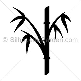 picture library Bamboo transparent svg. Silhouette clip art download