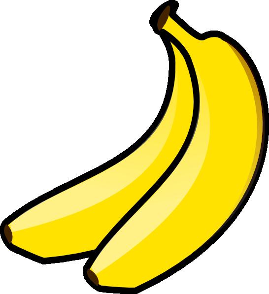 svg stock Image of banana free. Bananas clipart.