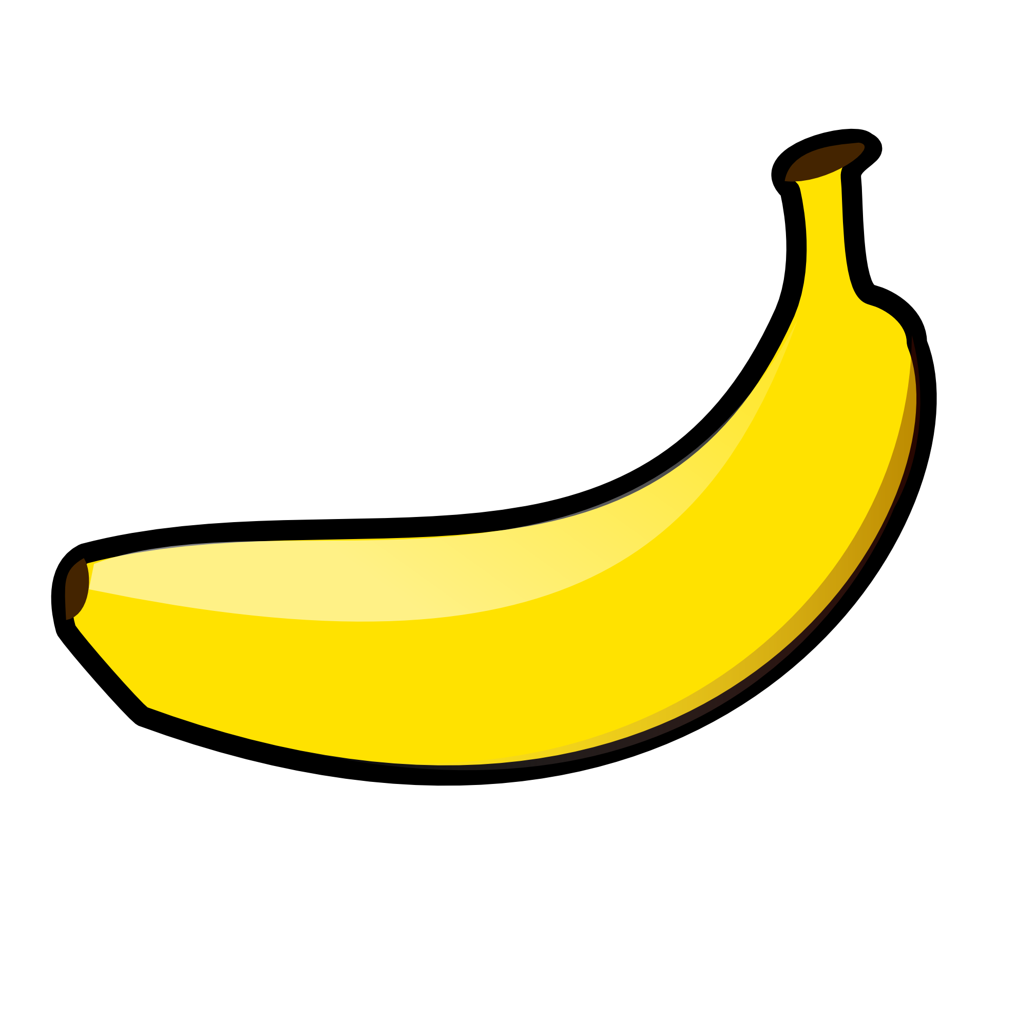 clipart royalty free library Banana clipart black and. Bananas vector flat design
