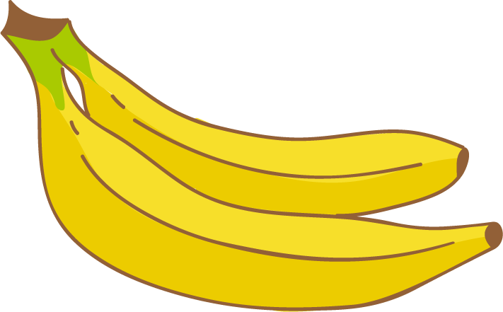 banner freeuse library Banana clipart magnesium free. Bananas drawing