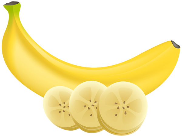 clip art download Banana and slices transparent. Bananas vector illustrator