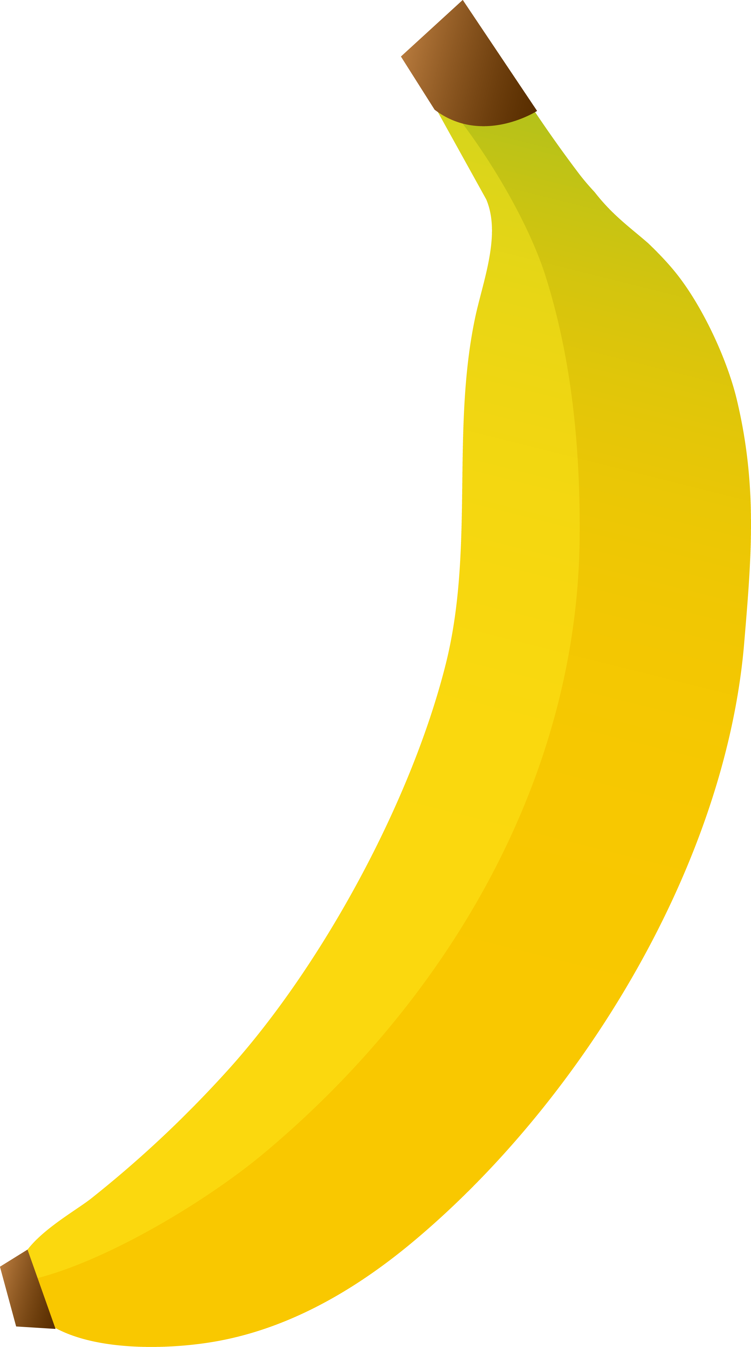 vector free Four clipart object. Single large yellow banana