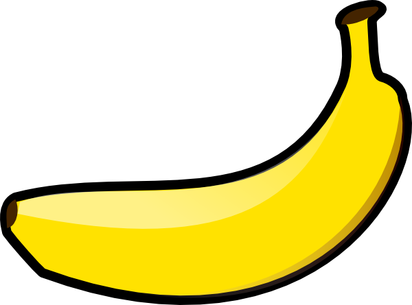 clipart black and white Banana Clip Art at Clker
