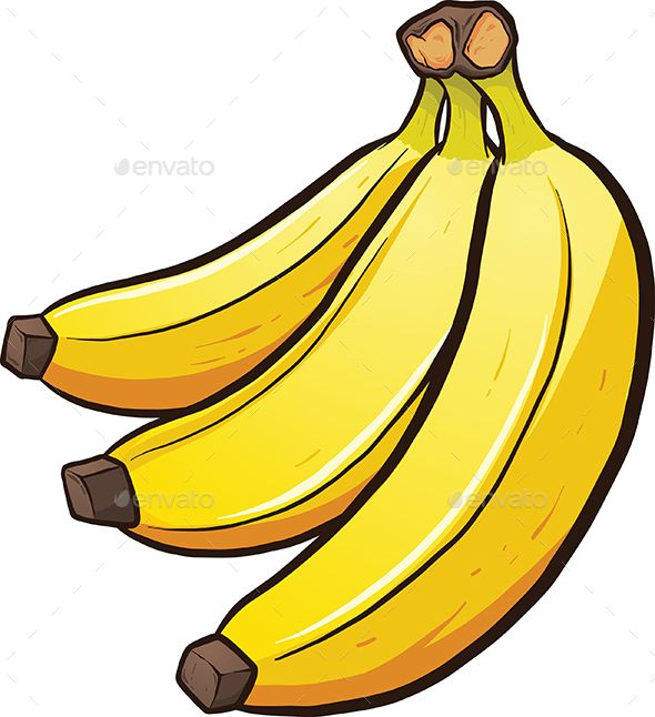 image royalty free library A bundle of cartoon. Bananas clipart.