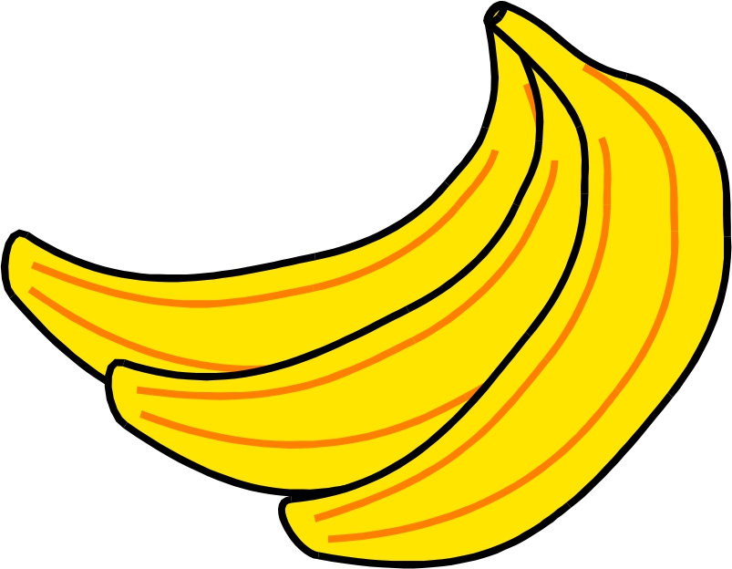 jpg free library Bananas clipart 2 banana. Free images download clip