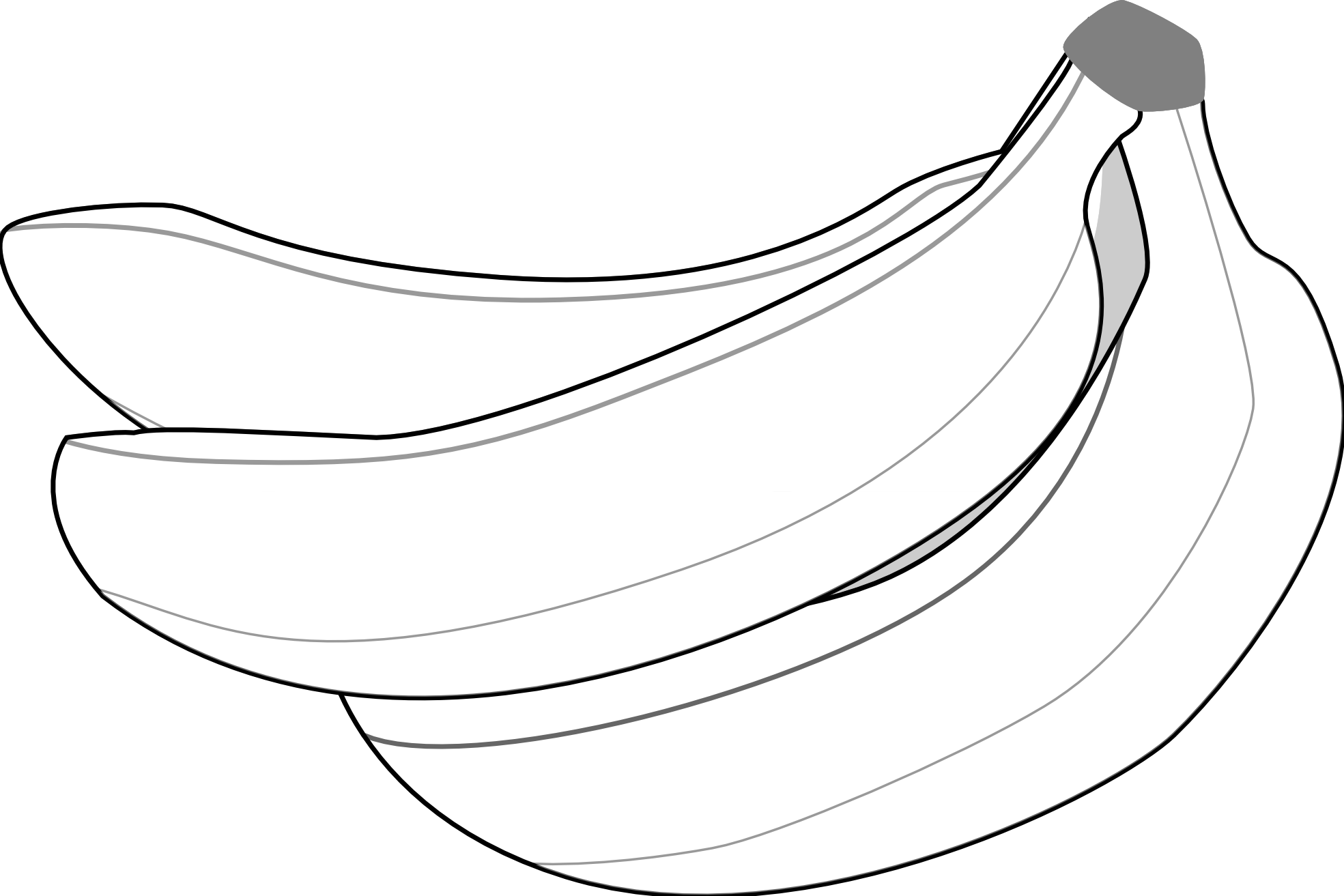black and white Collection of free arangoes. Bananas vector black and white