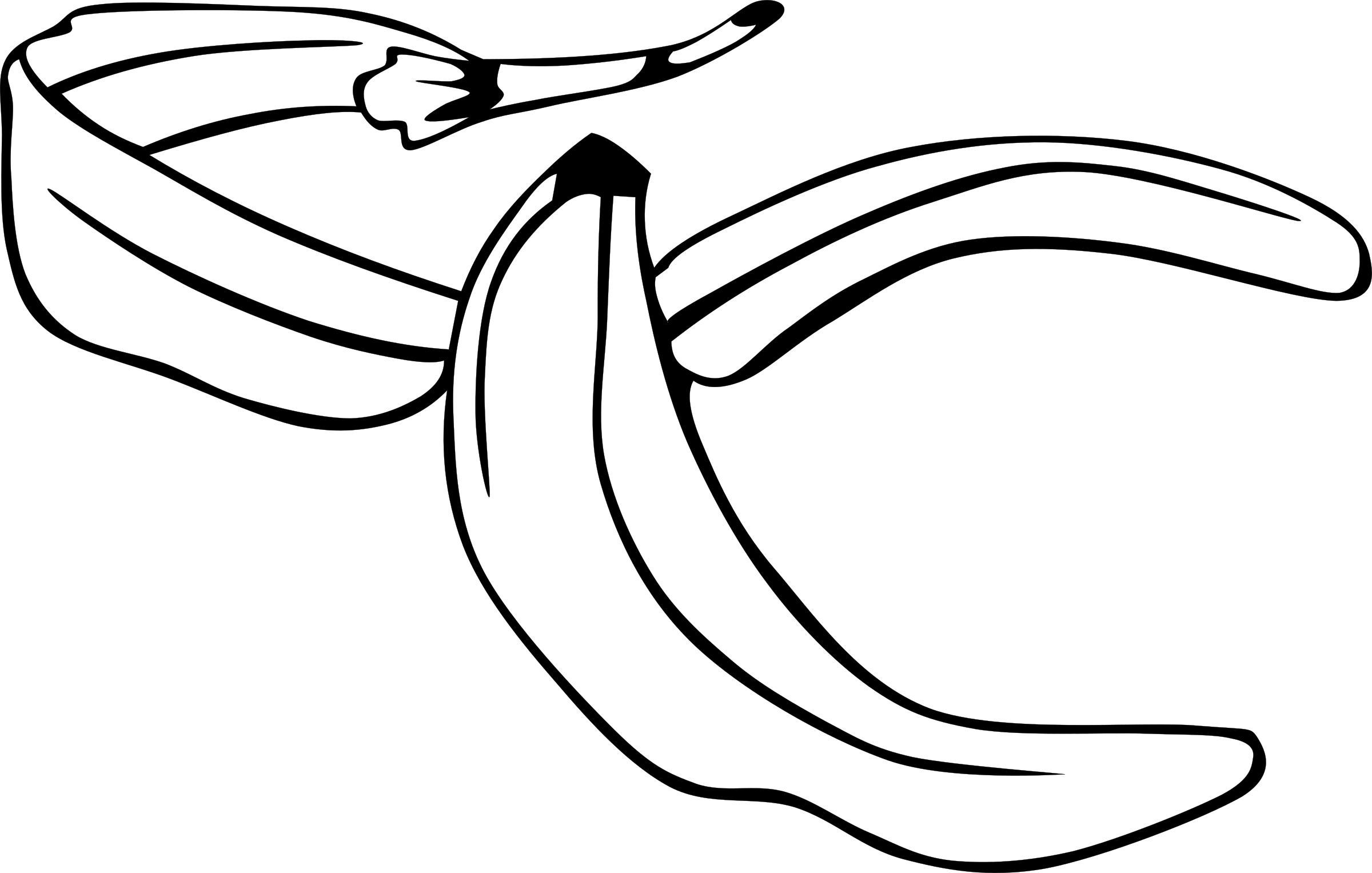 vector transparent download Banana peel clipart