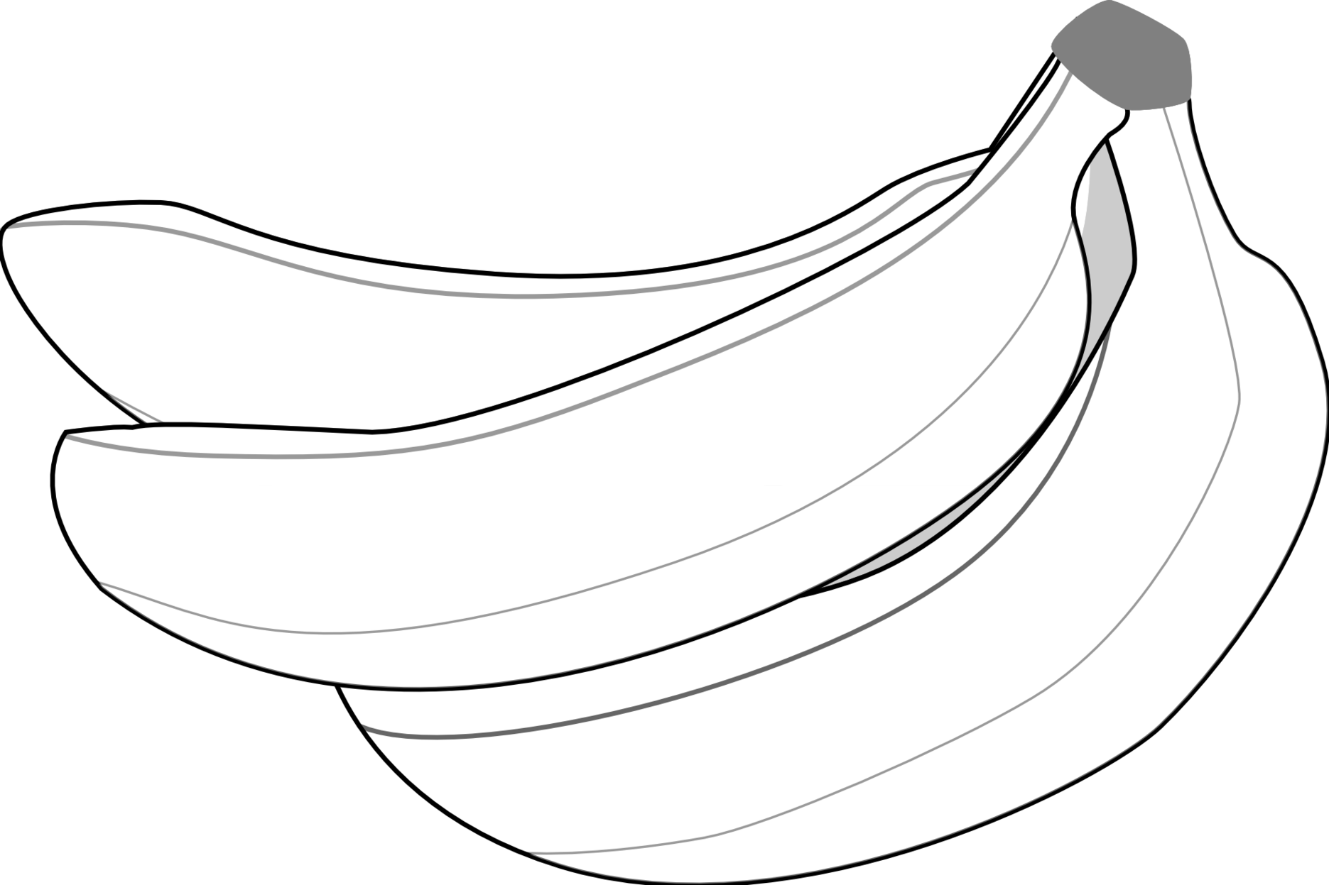 graphic black and white stock Bananas vector black and white. Banana clipart free download