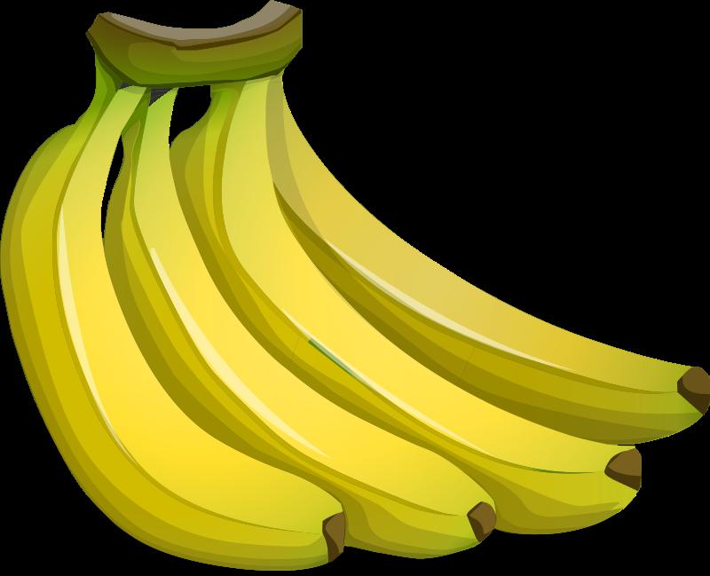 vector black and white library Bananna clip bunch. Clipart a of bananas