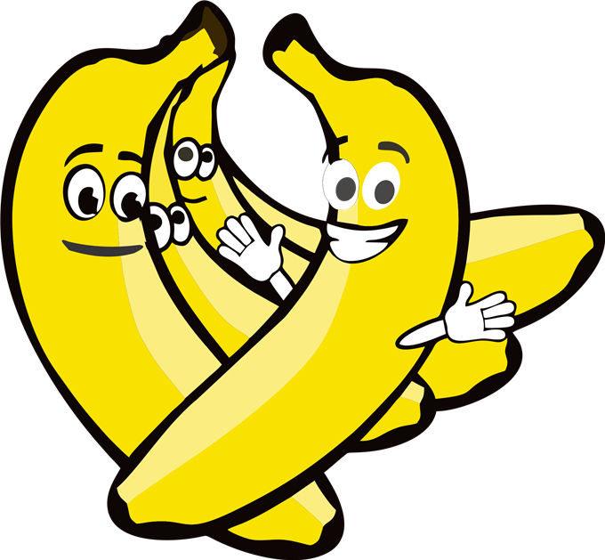 jpg free Banana With Face Clipart