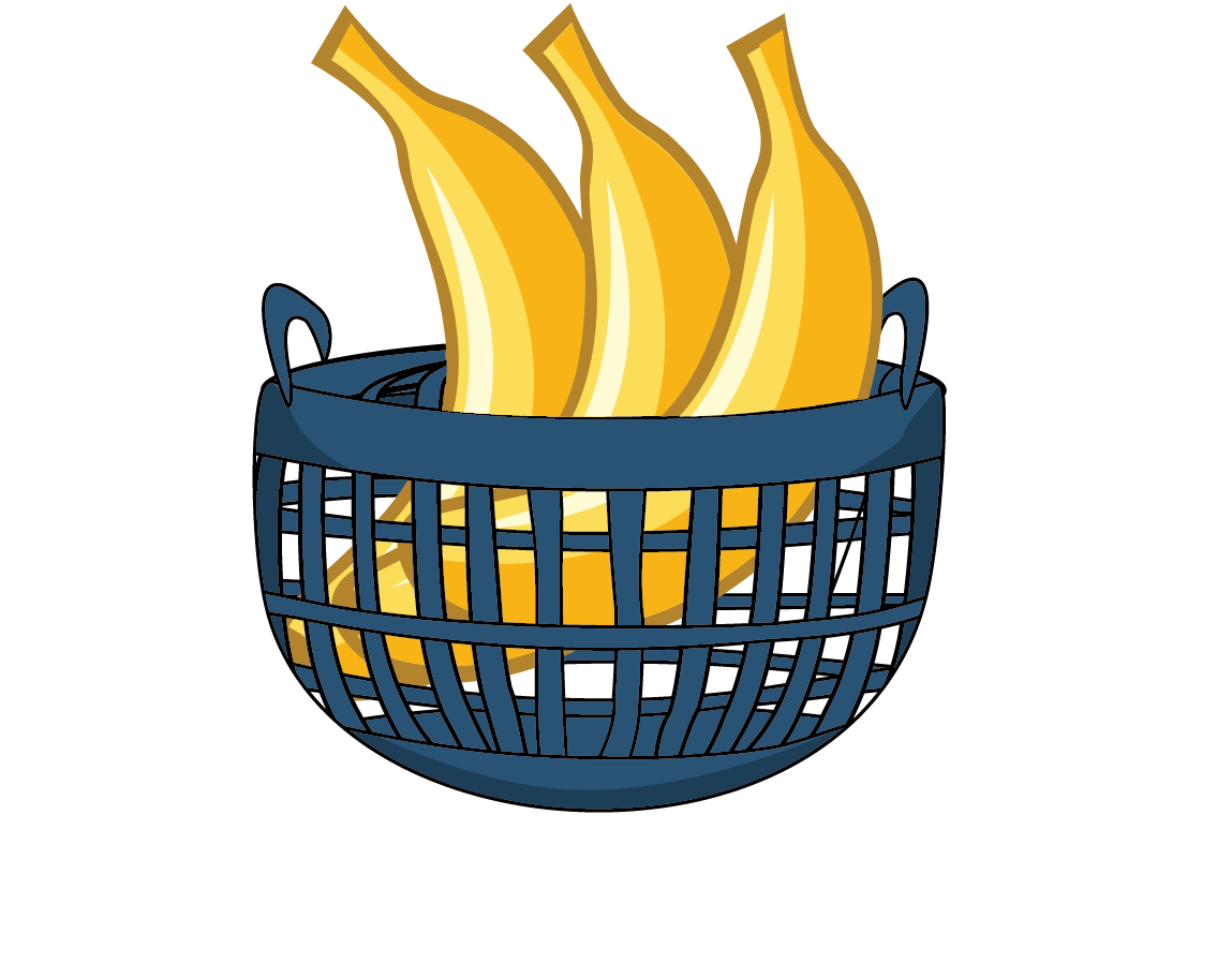 png freeuse Bananas clipart basket. Banana free on dumielauxepices