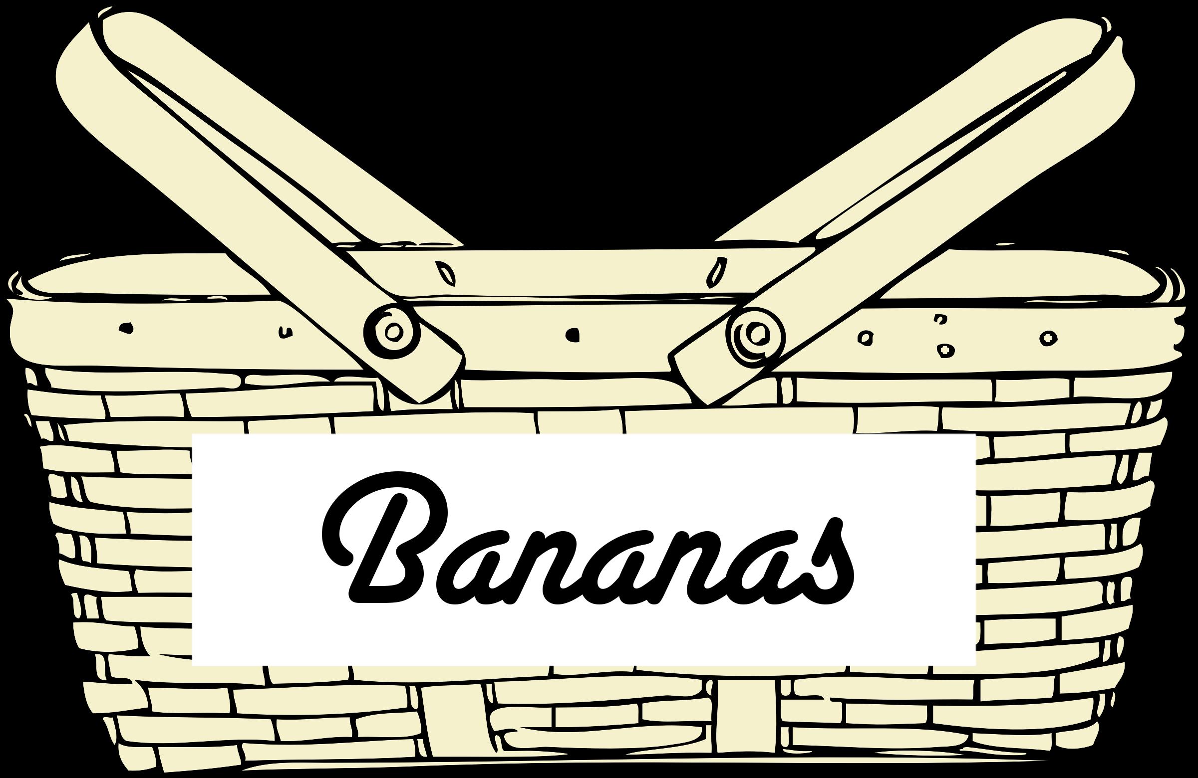 image freeuse Index of jdegen production. Bananas clipart basket