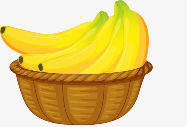 clip art black and white stock Banana transparent png free. Bananas clipart basket