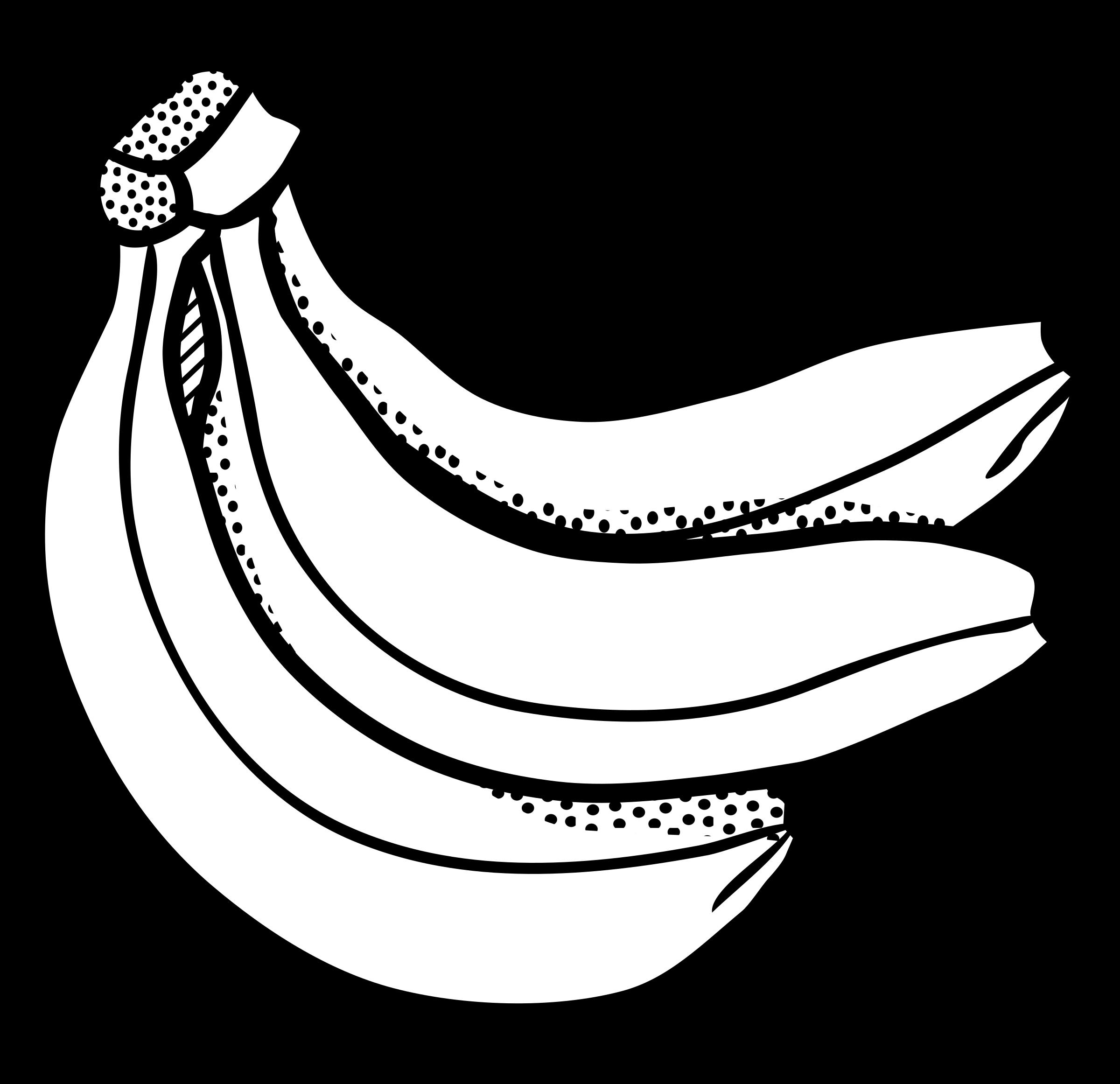 image freeuse library Banana outline at getdrawings. Bananas drawing easy