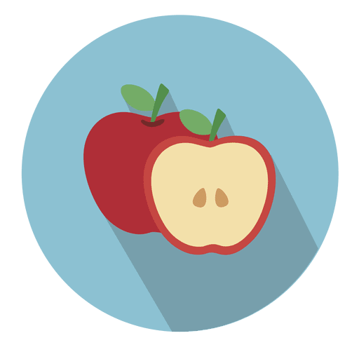 svg free download Apple circle icon with drop shadow