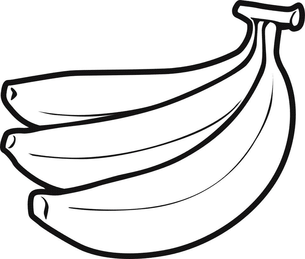 clip art download Bananas drawing toon. Free printable coloring pages